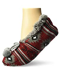 MUK LUKS womens Muk Luks Women's Slipper Ballerina Socks Slipper Sock