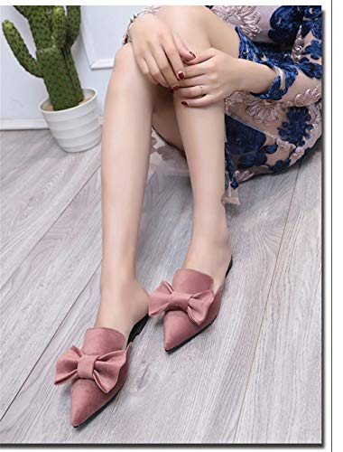 Pink YUCH Chaussures Chaussons Pointus Plates rxIY6wIq