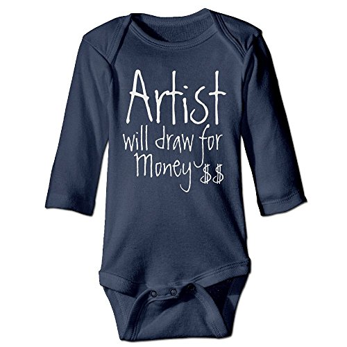 Loft 24 Series (Richard Unisex Newborn Bodysuits Funny artist Will Draw For Money Boys Babysuit Long Sleeve Jumpsuit Sunsuit Outfit 24 Months Navy)