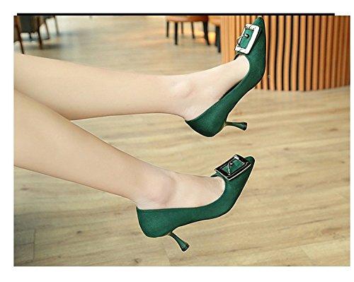 HRCxue Wilde einzelne high-heel Schuhe Frauen fein mit stilvollen high-heel einzelne Schuhe flache Mund matt Tipp Arbeit Schuhe Frauen Schuhe 34 4ac262