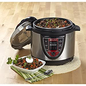 IMUSA-USA-GAU-80106-5Qt-Electric-Stainless-Steel-Bilingual-Digital-Pressure-Cooker-Red-Insta-Pot