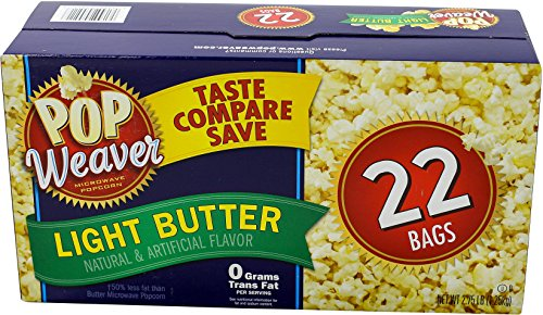 Pop Weaver Light Butter Popcorn, 2.75 lbs (Light Butter Flavor)