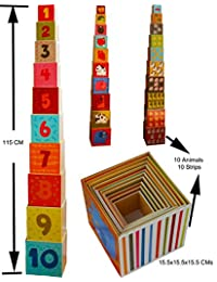 Toys of Wood Oxford Stacking Boxes Cubes/ Number and Alphabet Blocks Stacking Cups BOBEBE Online Baby Store From New York to Miami and Los Angeles