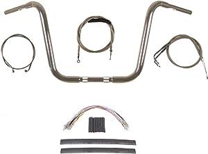 """Hill Country Customs 1 1/4"""" Chrome 14"""" Ape Hanger Handlebar Kit 1996-2006 Harley-Davidson Softail - BC-HC-11414C-ST06"""