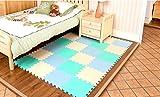 Menu Life 10-tile Beige & Blues Exercise Mat Soft Foam EVA Playmat Kids Safety Play Floor Puzzle Playmat Tiles