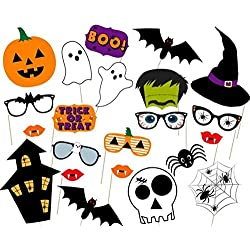 Halloween Photo Booth Props, 22 Pcs.