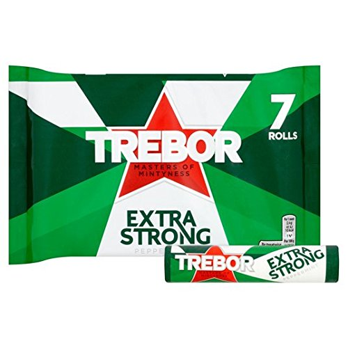 Trebor Extra Strong Peppermint Roll - Roll Mints Strong Extra
