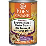 Eden Foods Organic Brown Rice & Pinto Beans, 398ml (Pack of 6)