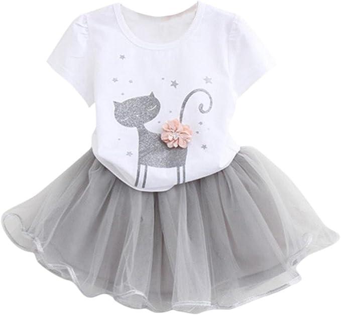 POLP Niña Conjuntos◕‿◕Niña Falda de Baile, Casual Elegante Moda ...