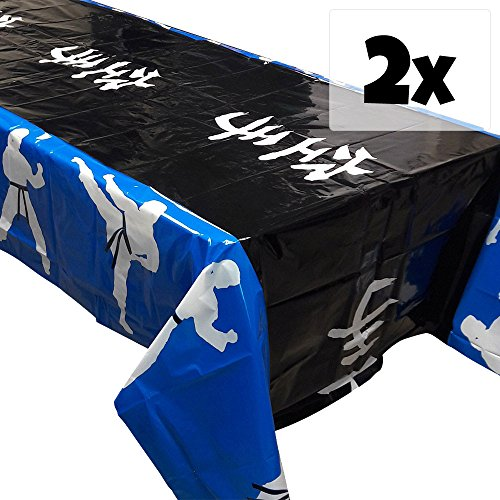 - Blue Orchards Karate Party Tablecovers (2), Karate Party Supplies, Party Decorations, Martial Arts Birthday