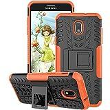 Samsung Galaxy J7 Case 2018, Galaxy J7 Refine Case, Galaxy J7V / J7 V Case 2018 (2nd Gen), Galaxy J7 Star Case, J7 Top, J7 Aura, J7 Aero, J7 Crown, J7 Eon, GSDCB Phone Case with Kickstand (Orange)