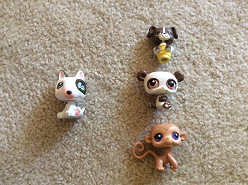 Littlest Pet Shop Paws Off Diary Replacement Pets Bull Terrier Panda Monkey dog pencil topper