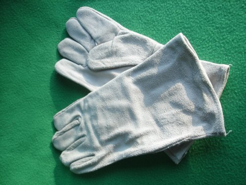 Heavey Duty Industrial Leather Welding Gloves 14 Long by Harbor by Harbor