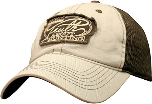 Adventure Hat Cream (Primos Men's Truth Cap, Cream/Brown, One Size Fits Most)