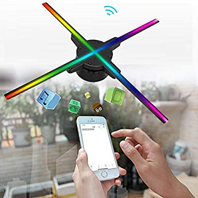 Qinlorgo Proyector Profesional, 50 cm 4 Ejes 1600 * 576 HD ...