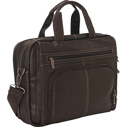 Kenneth Cole Reaction Colombian Leather Laptop Portfolio - EXCLUSIVE - Brown