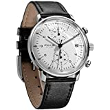 FEICE Men's Watches Ultra Thin Analog Quartz Watch Stainless Steel Luminous Dual Time Casual Watches for Men with Leather Bands Calendar -FS021 (White)