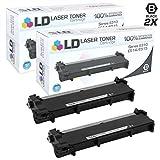 LD Compatible Dell 593-BBKD/P7RMX Set of 2 High Yield Black Laser Toner Cartridges for Dell E310dw, E514dw, E515dn, E515dw