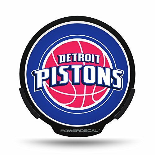 NBA Detroit Pistons Backlit LED Motion Sensing Powerdecal by Rico by Rico