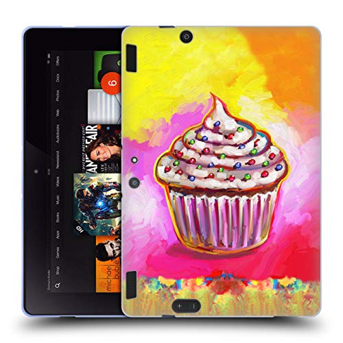 Official Howie Green Cosmic Cupcake Food and Drinks Soft Gel Case for Amazon Kindle Fire HDX 8.9