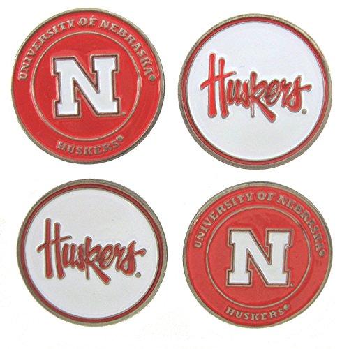 Nebraska Huskers Double Sided Golf Ball Markers (Set of Four) Nebraska Huskers Golf