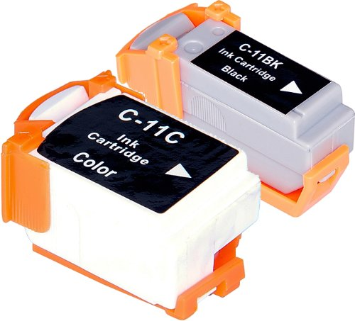 2 Pack Compatible Canon BCI-11 1 Black, 1 Tri Color for use with Canon BJC-55, BJC-70, BJC-80, BJC-85, BJC-85W, LR1. Ink Cartridges for inkjet printers. BCI-11-BK , BCI-11-C © Blake Printing Supply
