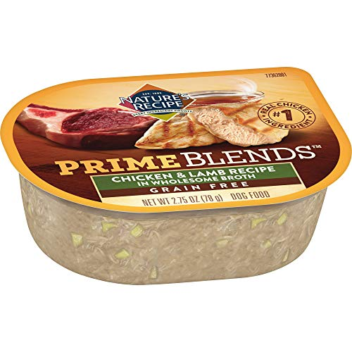 Nature's Recipe Prime Blends, Chicken & Lamb Recipe, Wet Dog Food, 2.75 oz Can (Case of 12)