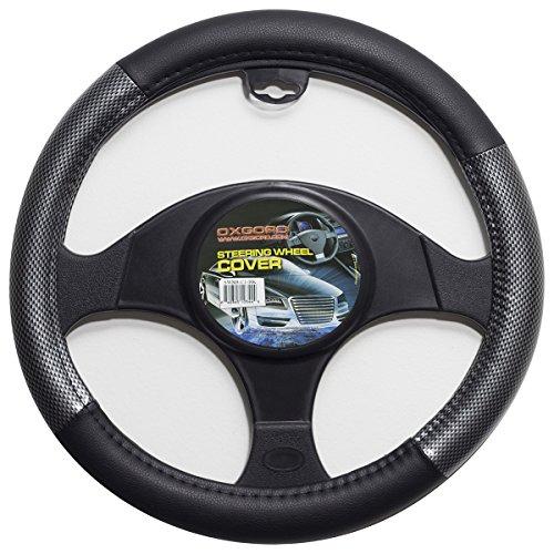 OxGord Steering Wheel Cover Set Carbon Fiber, Universal 15 (Cover Set Carbon)