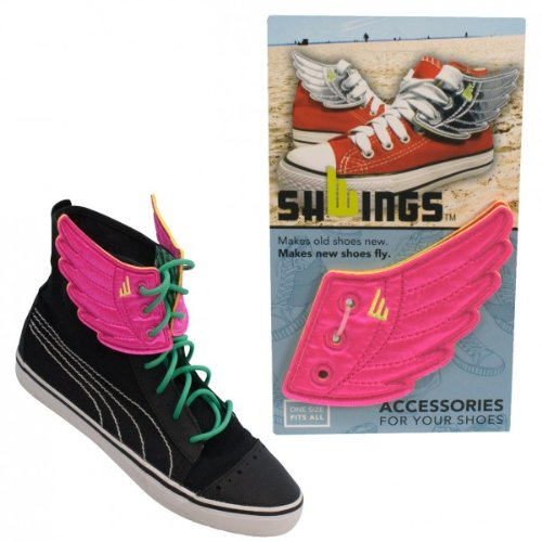 Shwings Schuhzubehör in Rossmore Pink Neon - Make Old Shoes New! Make New Shoes Fly!