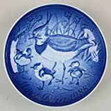 1988 Bing & Grondahl Mother's Day Plate - Crested Plover & Young