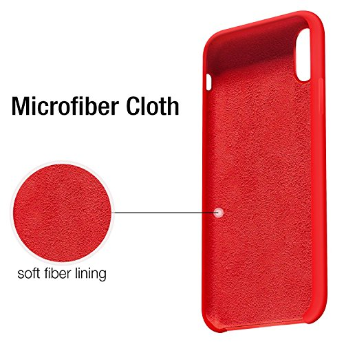 Anti Etui Bonbon 10 Souple Couleurs pour 5 X Fine Drapant Ultra Apple Silicone iPhone de Cases Rouge iPhone Rayures TPU Coque Anti Pouces Rubber Bumper JEPER 8 X gqTvIOH
