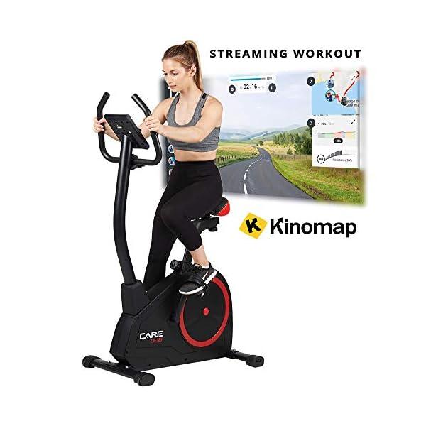 CARE FITNESS – Vélo d'Appartement CV-385-24 Programmes d'Entraînement – Masse d'Inertie 10kg – Résistance Magnétique à 16 Niveaux – Connectivité Application Kinomap accessoires de fitness [tag]