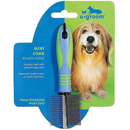 u groom Mini Combs — Ergonomic Combs for Grooming Dogs - Double Sided, 7½'' by UGroom