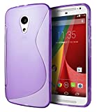 Motorola Moto G (2nd Generation) Case, Cimo [Wave] Premium Slim TPU Flexible Soft Case For Motorola Moto G (2nd Generation, 2014) - Purple