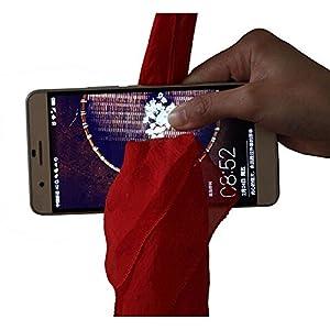 Rinhoo Magic Red Silk Through Phone by Close-Up Street Magic Trick Show Prop Tool