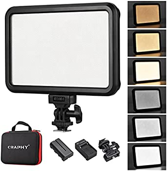 CRAPHY C-12B 1.2cm Dimmable LED Video Camera Light Panel Pad