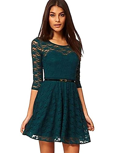 Women's 3/4 Sleeve Lace Sakter Dress