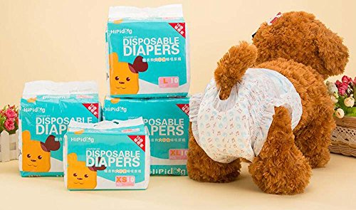 Seven Pounds 2008 - BuilLLin Dog Diapers Female Menstrual Diaper Disposable Female Wraps Menstruation Pads Paper Diapers Puppy Shorts Underwear Panty (S(Waist 7.4-14.5 inches,Weight 4.4-11 lb))
