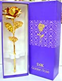 Rks Global Golden Rose Flower 24 K Special Gift For Valentines,Love Ones, Rose Day, Birthday With Gift Box And Carry Bag