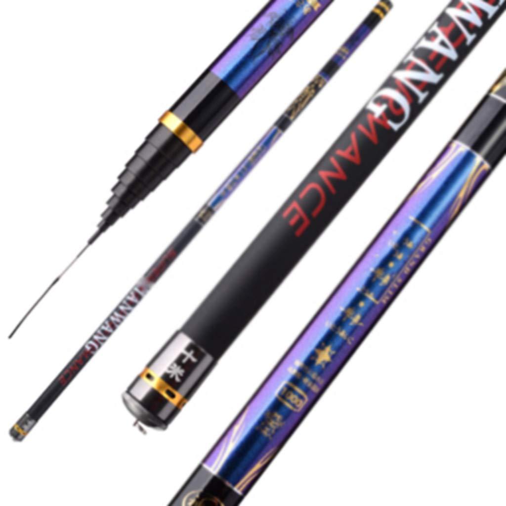 13M  xihongshi Canne à Poisson, 8-15 mètres, Manche Ultra-léger et réglable Ultra-Long, Manche à Lancer Long
