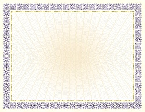Great Papers! Westminster Purple Metallic and Gold Foil Certificates, 8.5