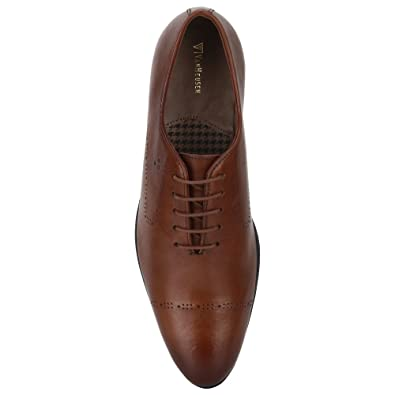 Van Heusen Mens Leather Lace up Formal Shoes  Buy Online at Low Prices in  India - Amazon.in caec22321