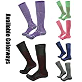 Soccer Socks Men, Gmark Men's Exercise and Fitness Compression Multisport Socks(3 Pairs) Size Large