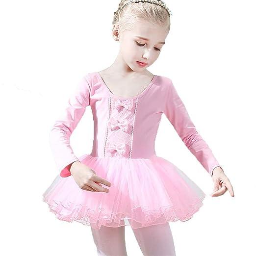 ChenYongPing Vestido Maillot de Ballet Danza Niñas, Manga Larga ...