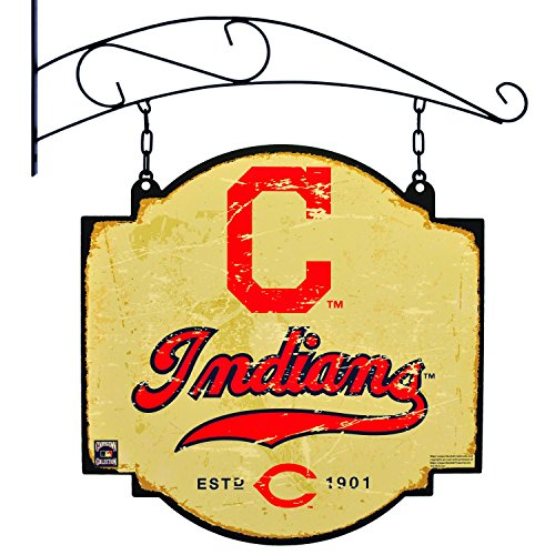Cleveland Banner Indians (MLB Cleveland Indians Tavern Sign, One Size, Red)