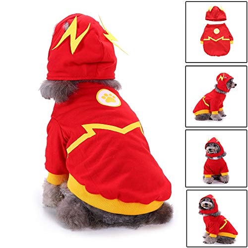 Glumes Flash Pattern Dog Pet Costume for Dogs Outfit Dog Vest for Halloween Day Pet Costume -