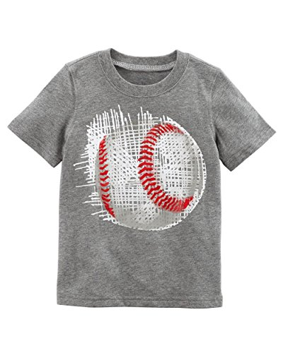 Carter's Boys' 2T-8 Short Sleeve Tee (4-5, Heather/Baseball)
