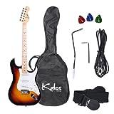 Kalos 39-Inch Electric Guitar Pack, Full Size, Sunburst - 1EG-3SB