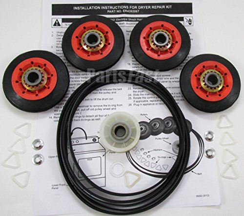 - 59174 - DRYER REPAIR KIT (4 ROLLERS, BELT, IDLER WHEEL, CLIPS, WASHERS) FOR ALL MAJOR BRAND DRYERS