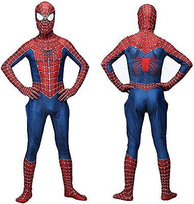RNGNBKLS Niño Adulto Spiderman Homecoming Disfraz Halloween Carnaval Cosplay Spiderman Suit Spandex/Lycra 3D Print Spiderman Traje,Adult-XL